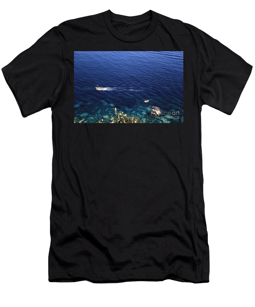 Landscape Men's T-Shirt (Athletic Fit) featuring the photograph The Beach by Noze P