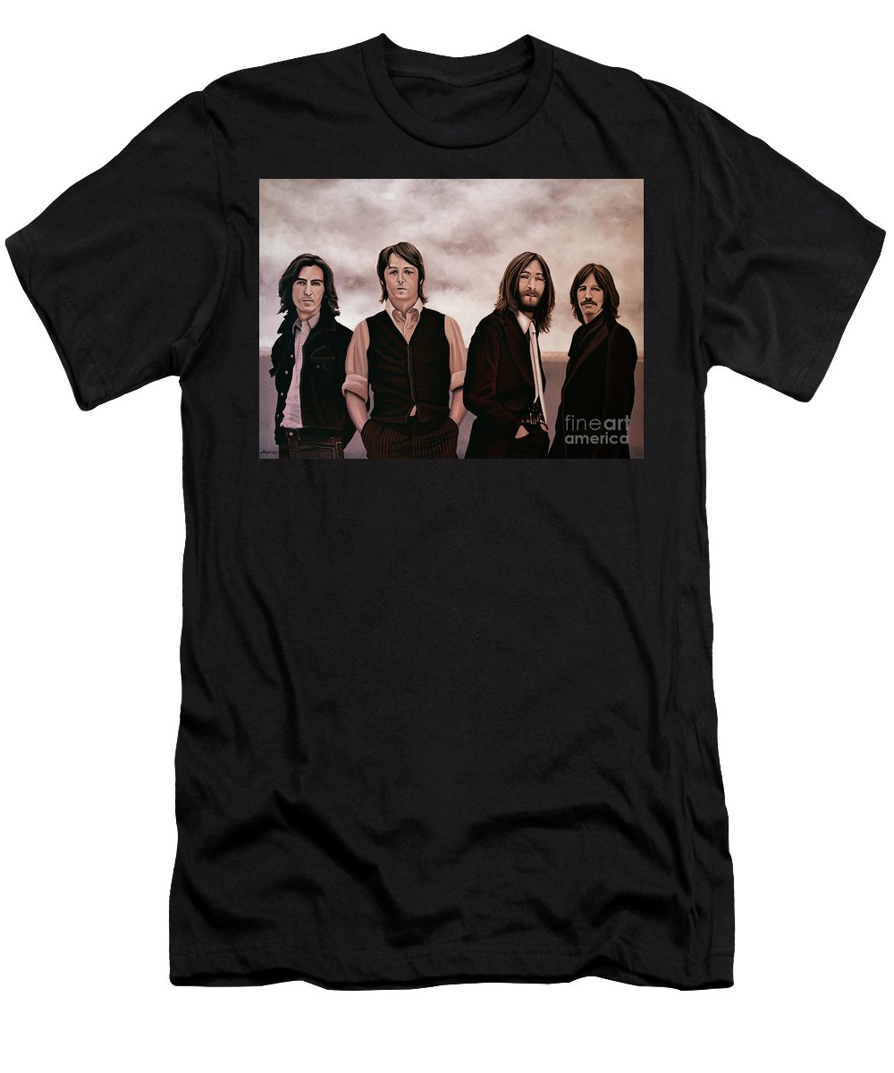 The Beatles T-Shirt featuring the painting The Beatles 3 by Paul Meijering