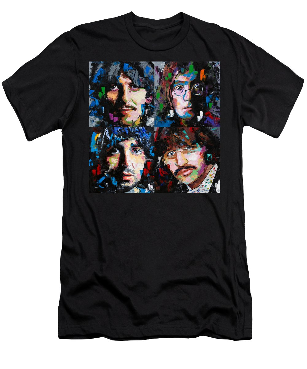 The Beatles T-Shirt featuring the painting The Beatles by Richard Day