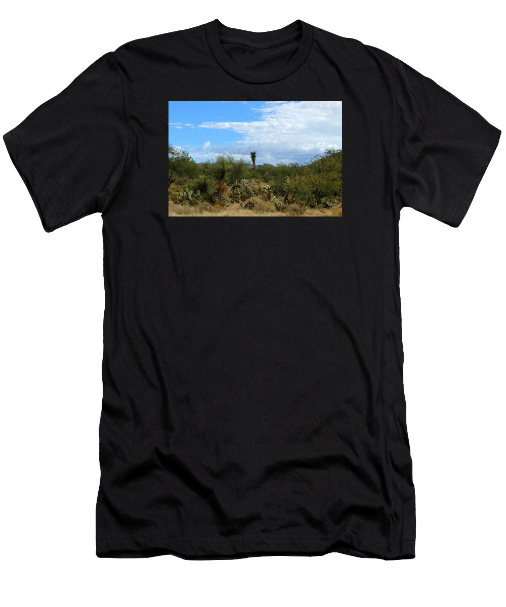 Tucson Men's T-Shirt (Athletic Fit) featuring the photograph The Beautiful Desert I Love by Teresa Stallings