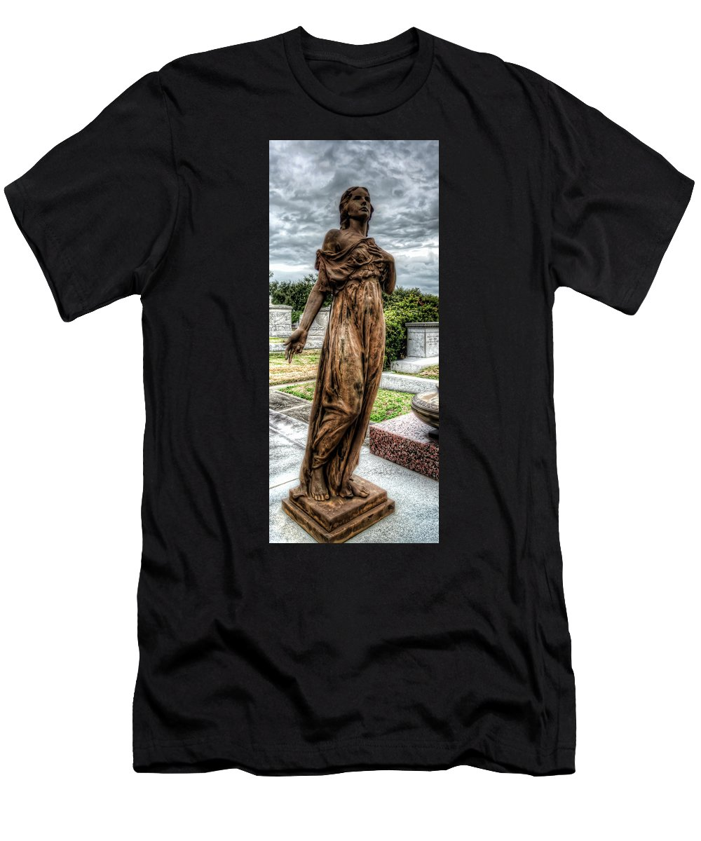 Statue Men's T-Shirt (Athletic Fit) featuring the photograph The Beauty by Barbara Bordelon