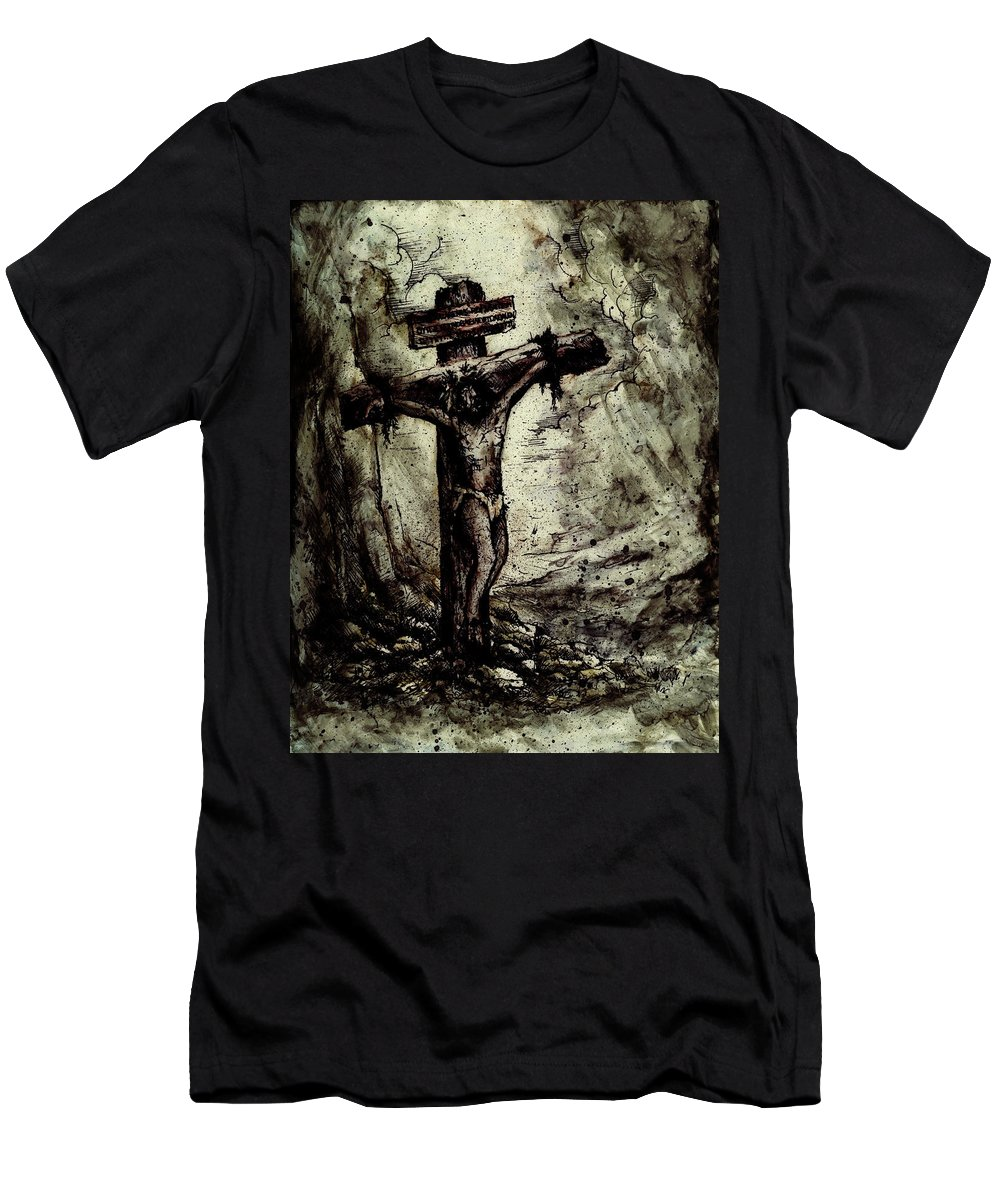 Figure Men's T-Shirt (Athletic Fit) featuring the drawing The Beloved Son by Rachel Christine Nowicki