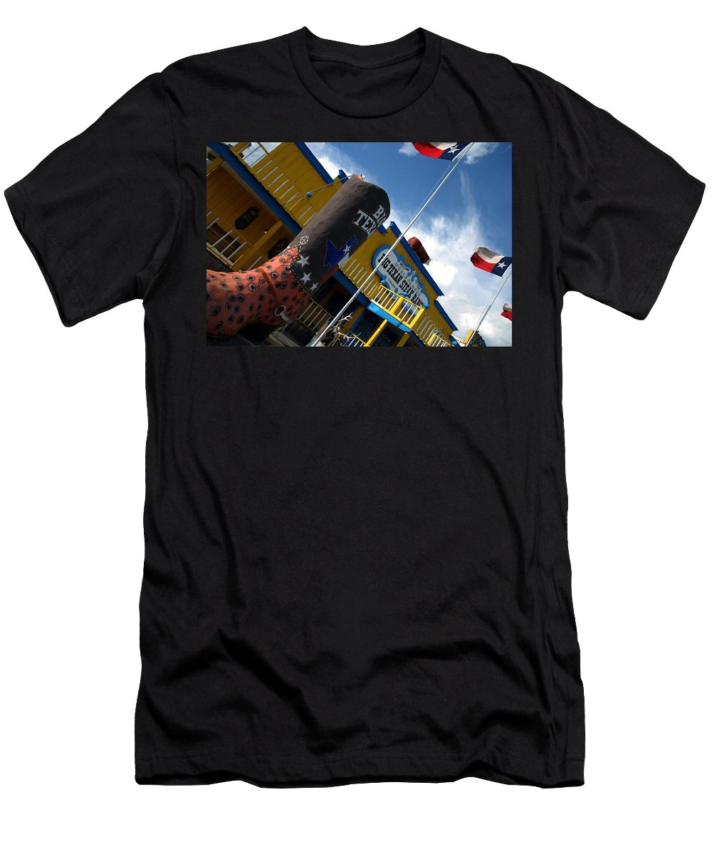 The Big Texan Men's T-Shirt (Athletic Fit) featuring the photograph The Big Texan II by Susanne Van Hulst