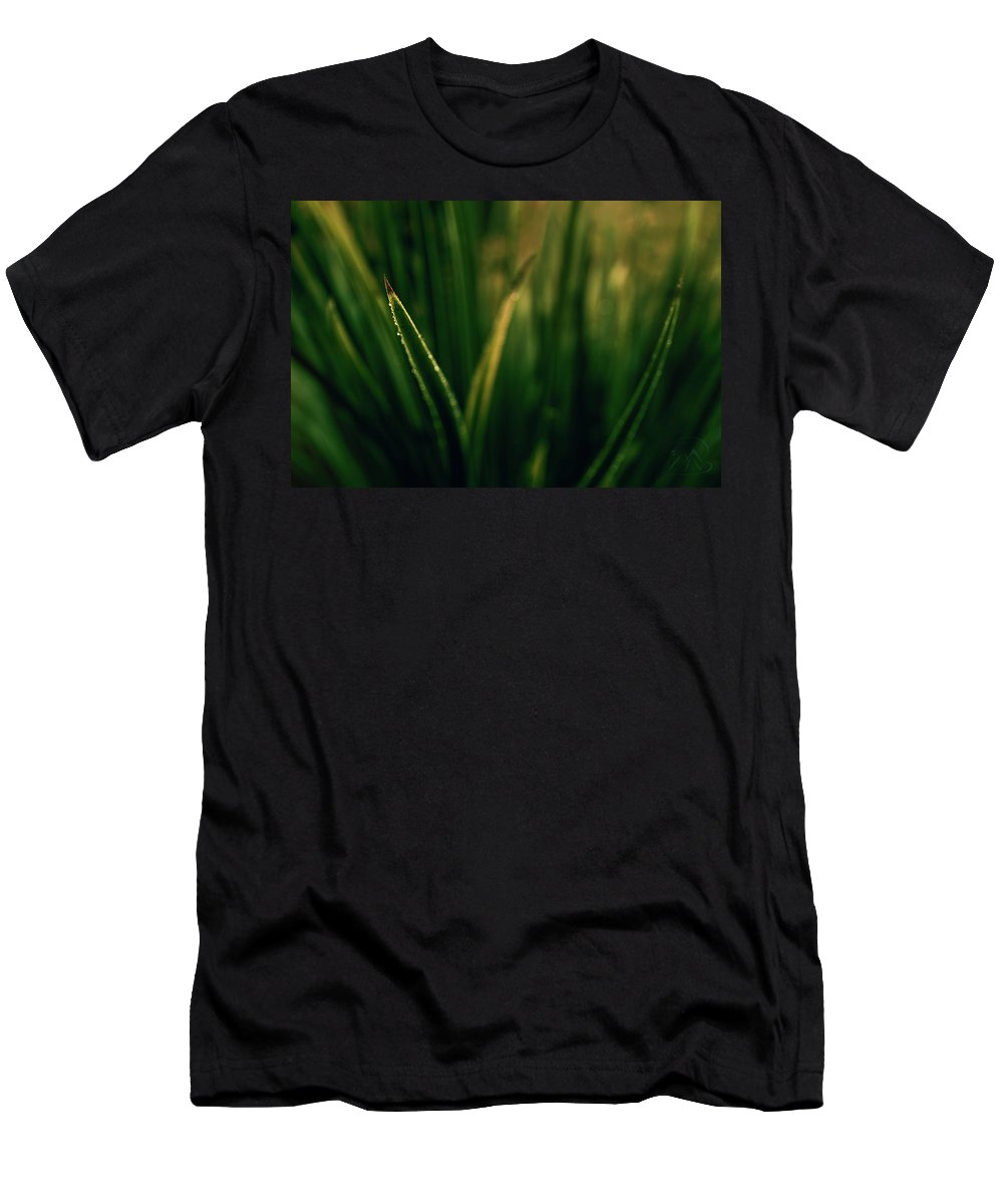 Blade Grass Men's T-Shirt (Athletic Fit) featuring the photograph The Blade by Gene Garnace