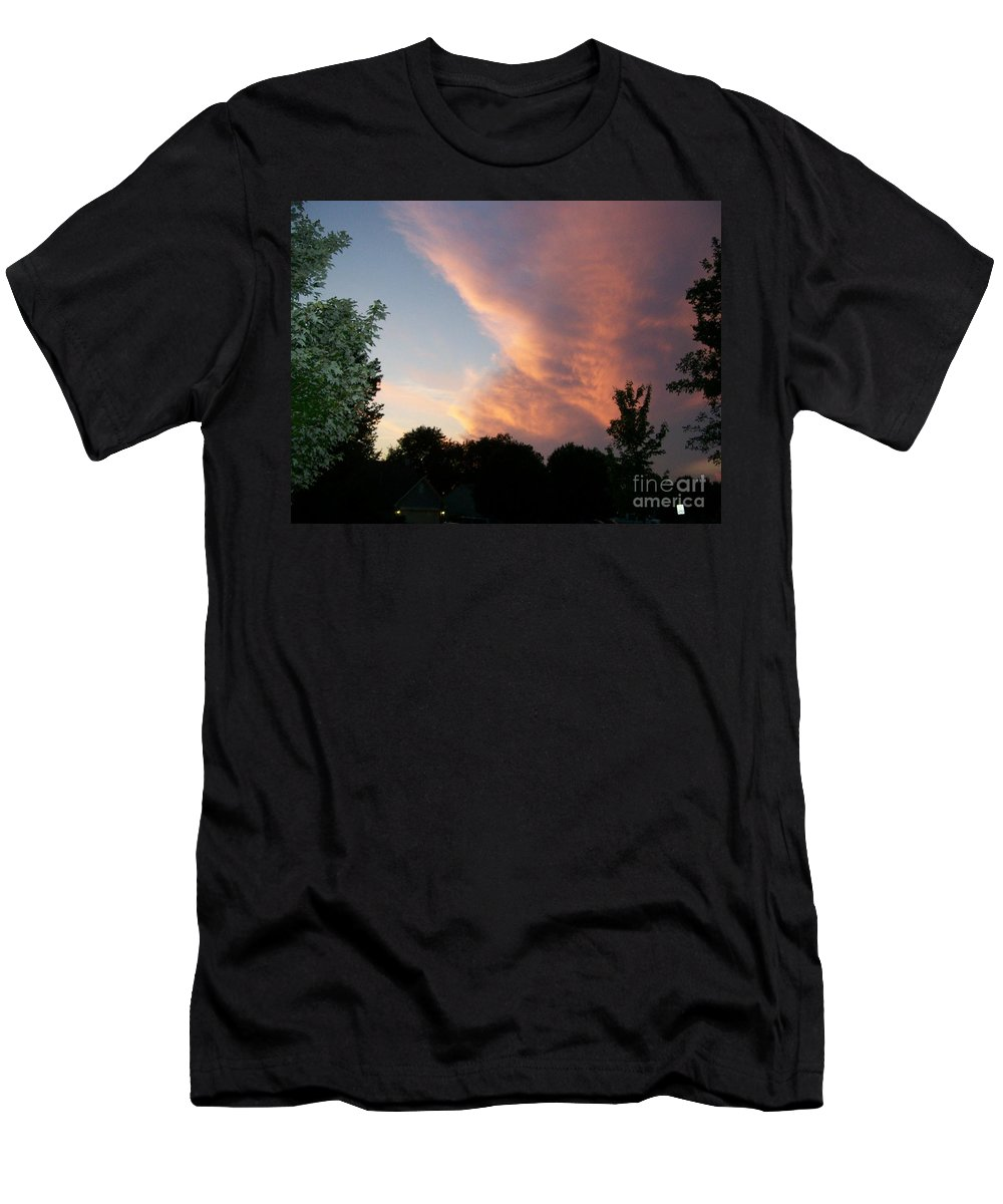 Sky Men's T-Shirt (Athletic Fit) featuring the photograph The Blanket by Stephen King