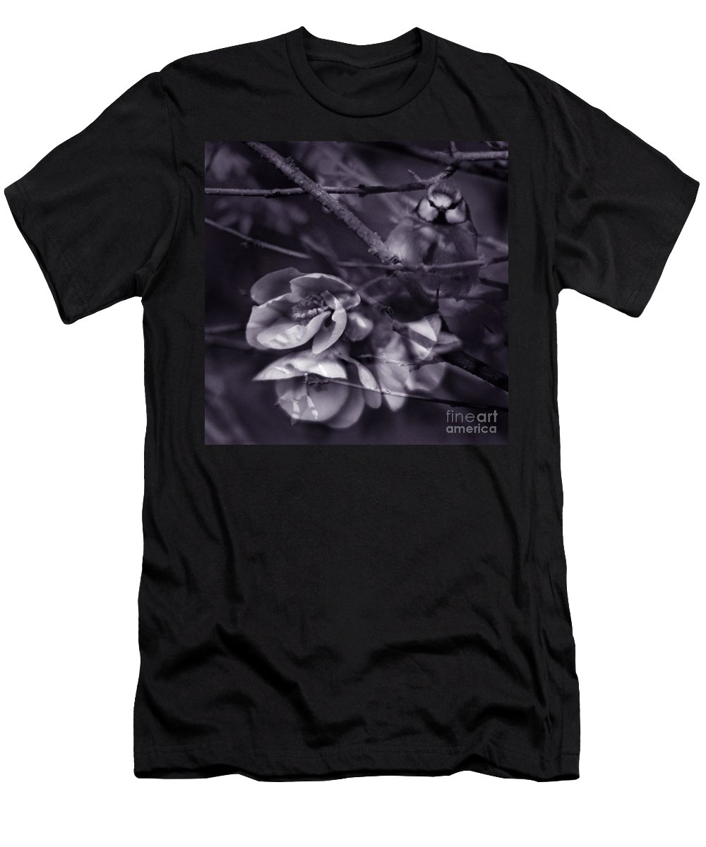 Blue Men's T-Shirt (Athletic Fit) featuring the photograph The Blue Tit by Angel Tarantella