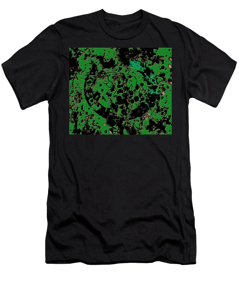 The Boston Celtics Men's T-Shirt (Athletic Fit) featuring the mixed media The Boston Celtics 6c by Brian Reaves