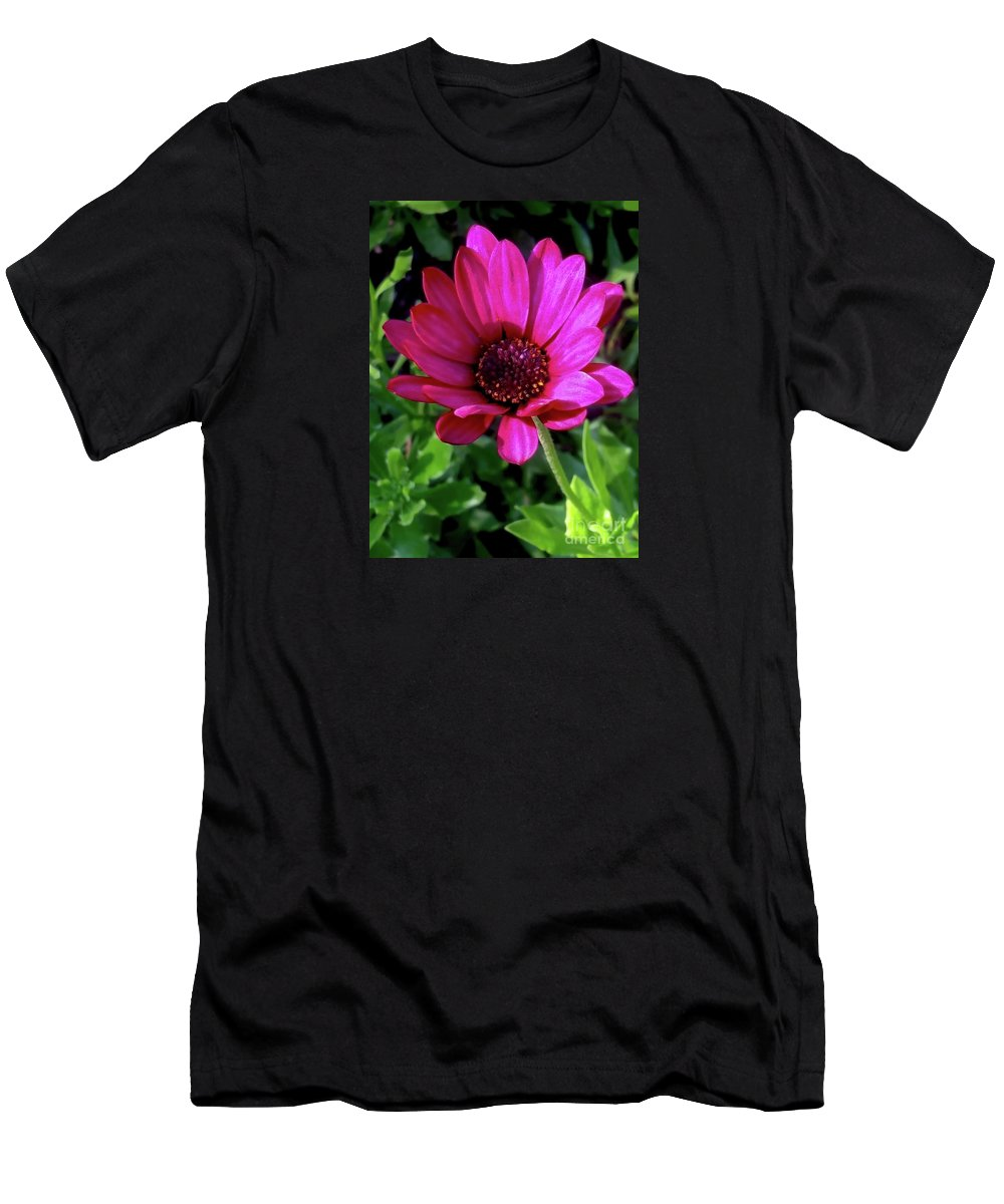 Botanical Garden Men's T-Shirt (Athletic Fit) featuring the photograph The Botanical Garden Zagreb Floral #9 by Jasna Dragun