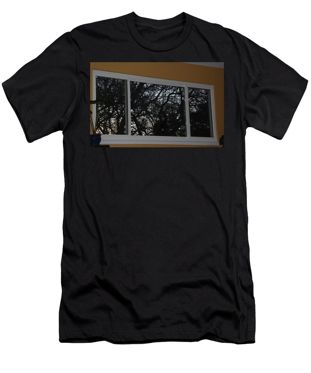 Window Men's T-Shirt (Athletic Fit) featuring the photograph The Branch Window by Rob Hans