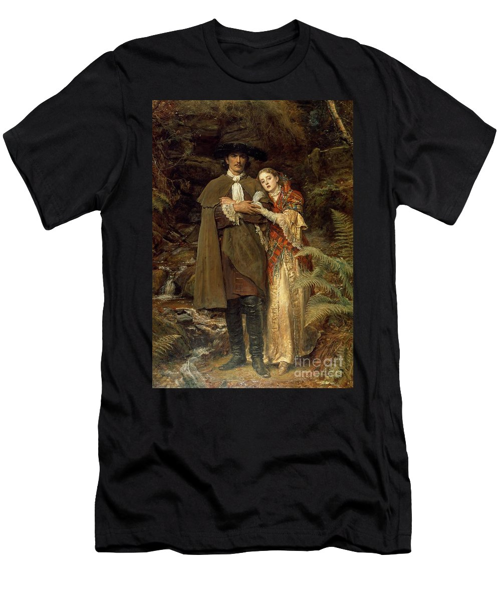 The Men's T-Shirt (Athletic Fit) featuring the painting The Bride Of Lammermoor by Sir John Everett Millais