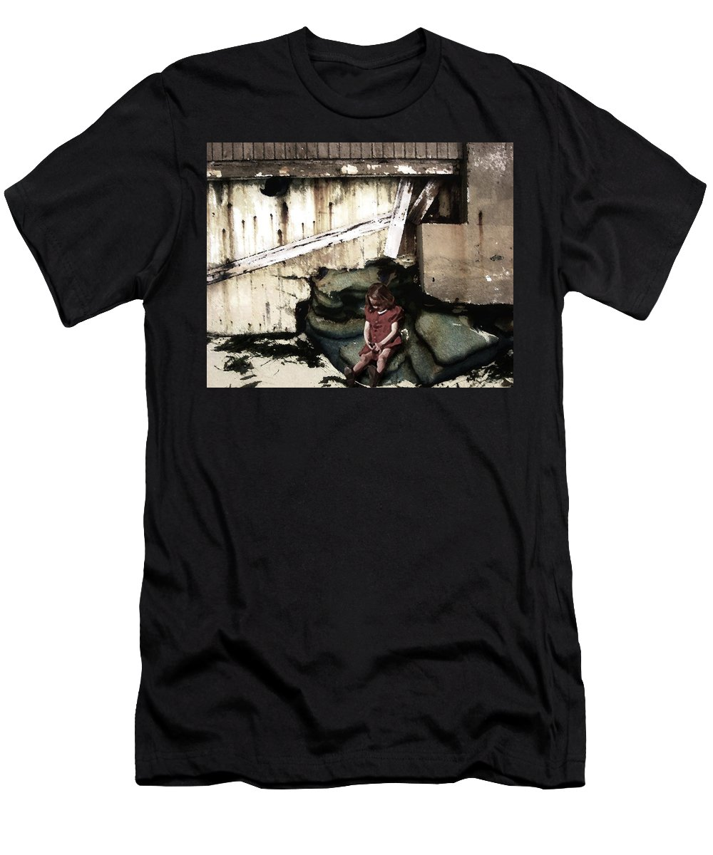 Broken Home Men's T-Shirt (Athletic Fit) featuring the photograph The Broken Home by Timothy Bulone