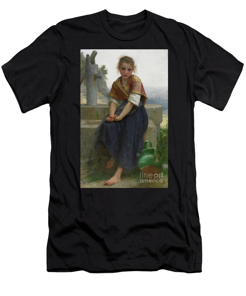 Bouguereau Men's T-Shirt (Athletic Fit) featuring the painting The Broken Pitcher by Viktor Birkus