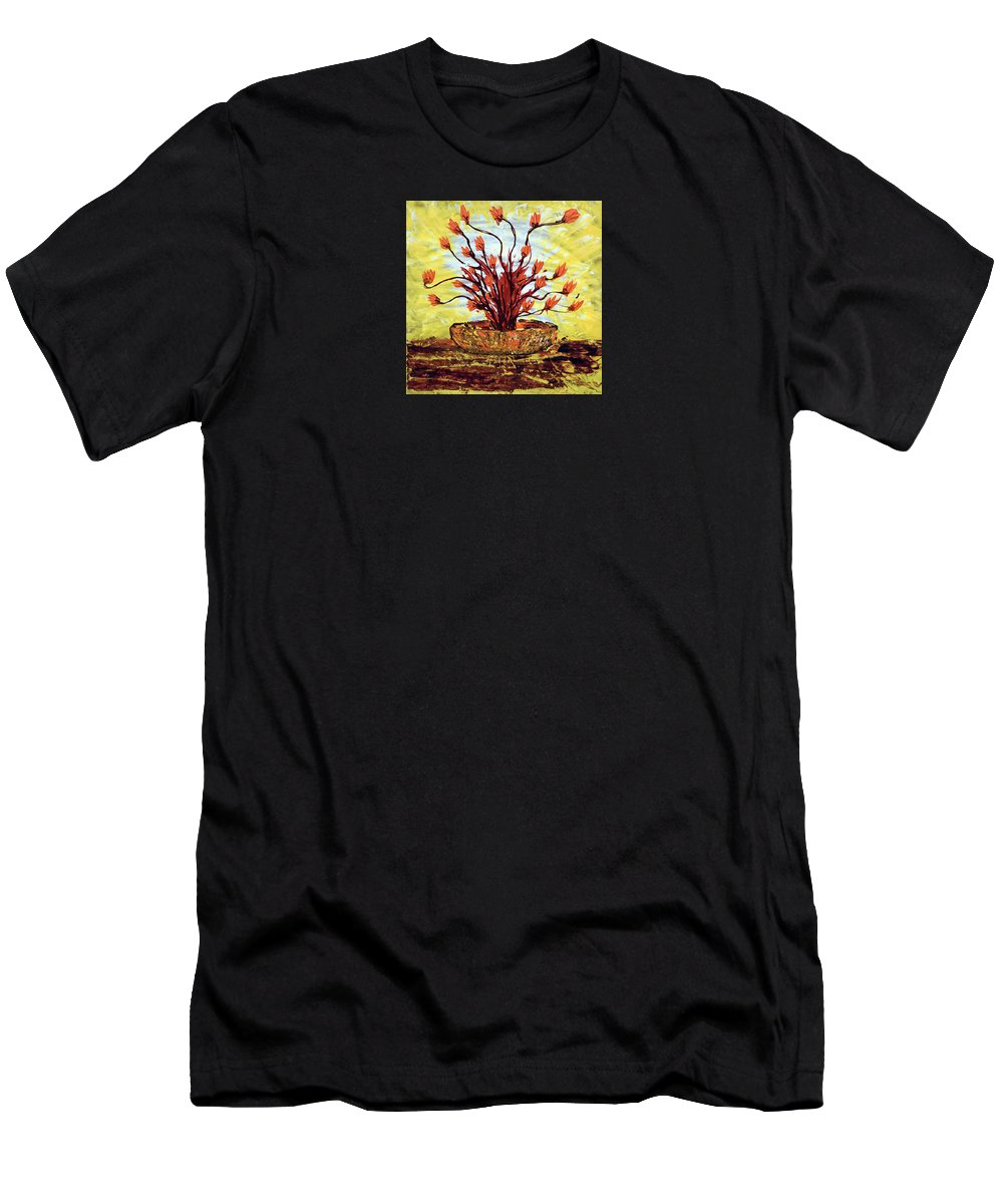 Impressionist Painting Men's T-Shirt (Athletic Fit) featuring the painting The Burning Bush by J R Seymour