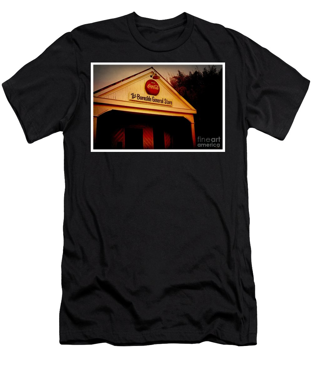 Burnside Men's T-Shirt (Athletic Fit) featuring the photograph The Burnside General Store by Scott Pellegrin