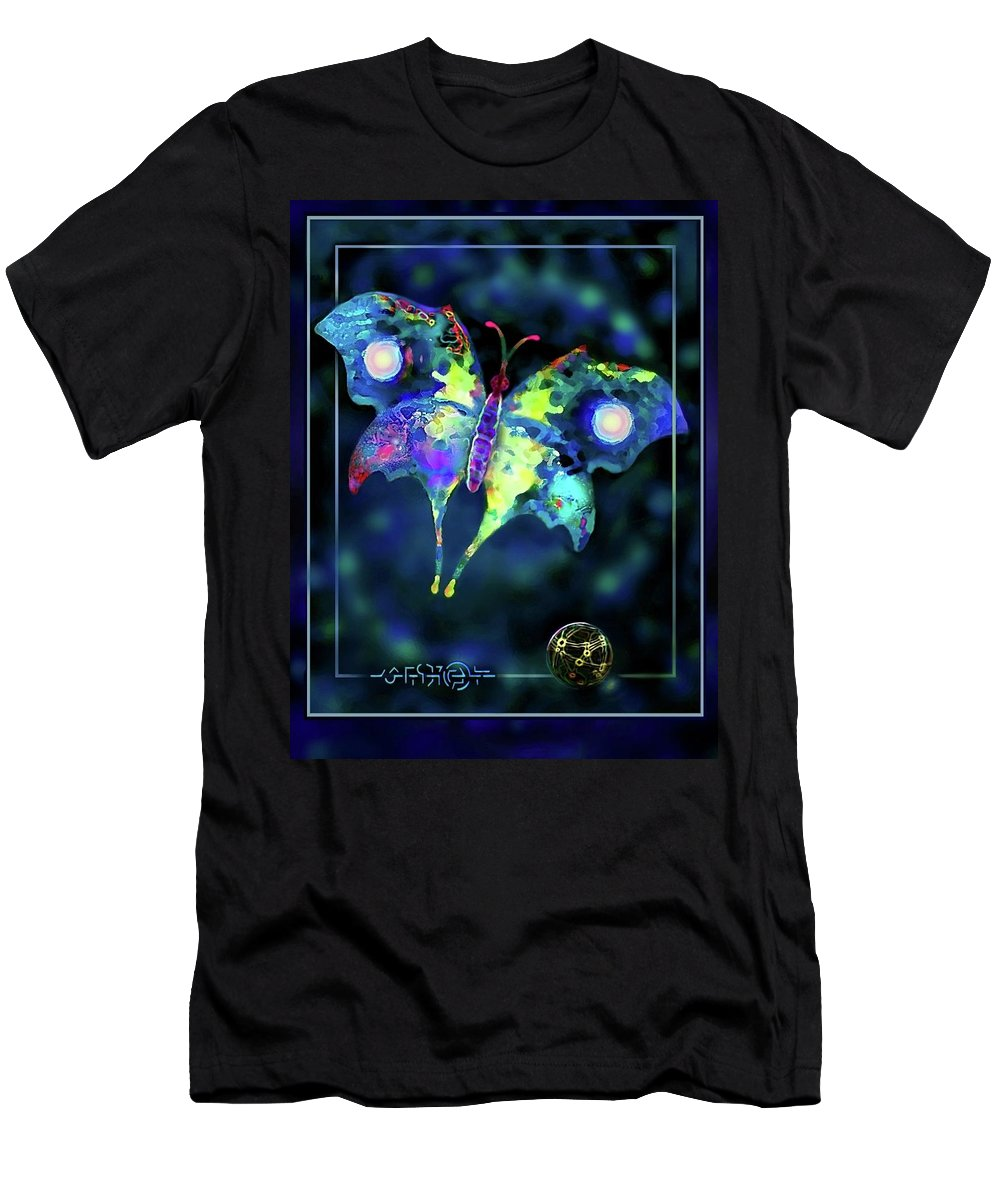Butterfly Men's T-Shirt (Athletic Fit) featuring the digital art The Butterfly Mission by Hartmut Jager
