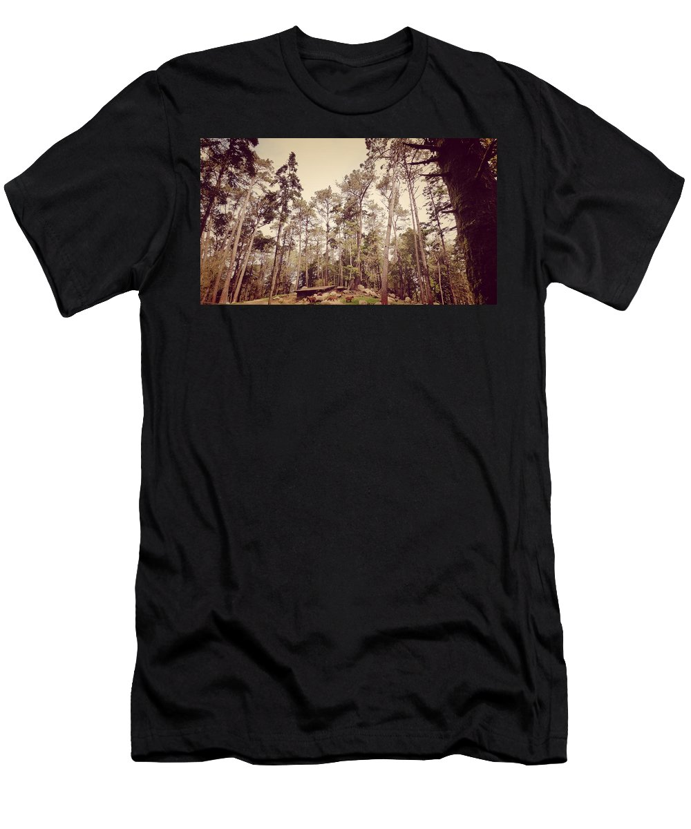 Sintra Men's T-Shirt (Athletic Fit) featuring the photograph The Cabin In The Woods by Pedro Venancio