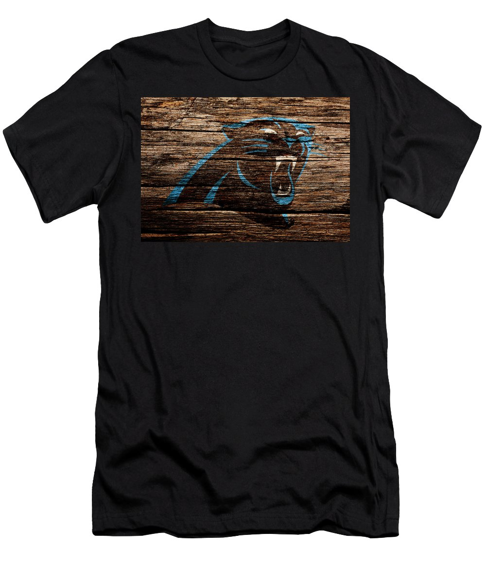 Carolina Panthers Men's T-Shirt (Athletic Fit) featuring the mixed media The Carolina Panthers 4a by Brian Reaves