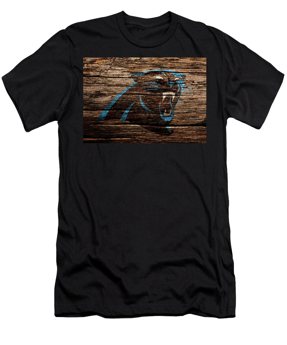 Carolina Panthers Men's T-Shirt (Athletic Fit) featuring the mixed media The Carolina Panthers 4b by Brian Reaves