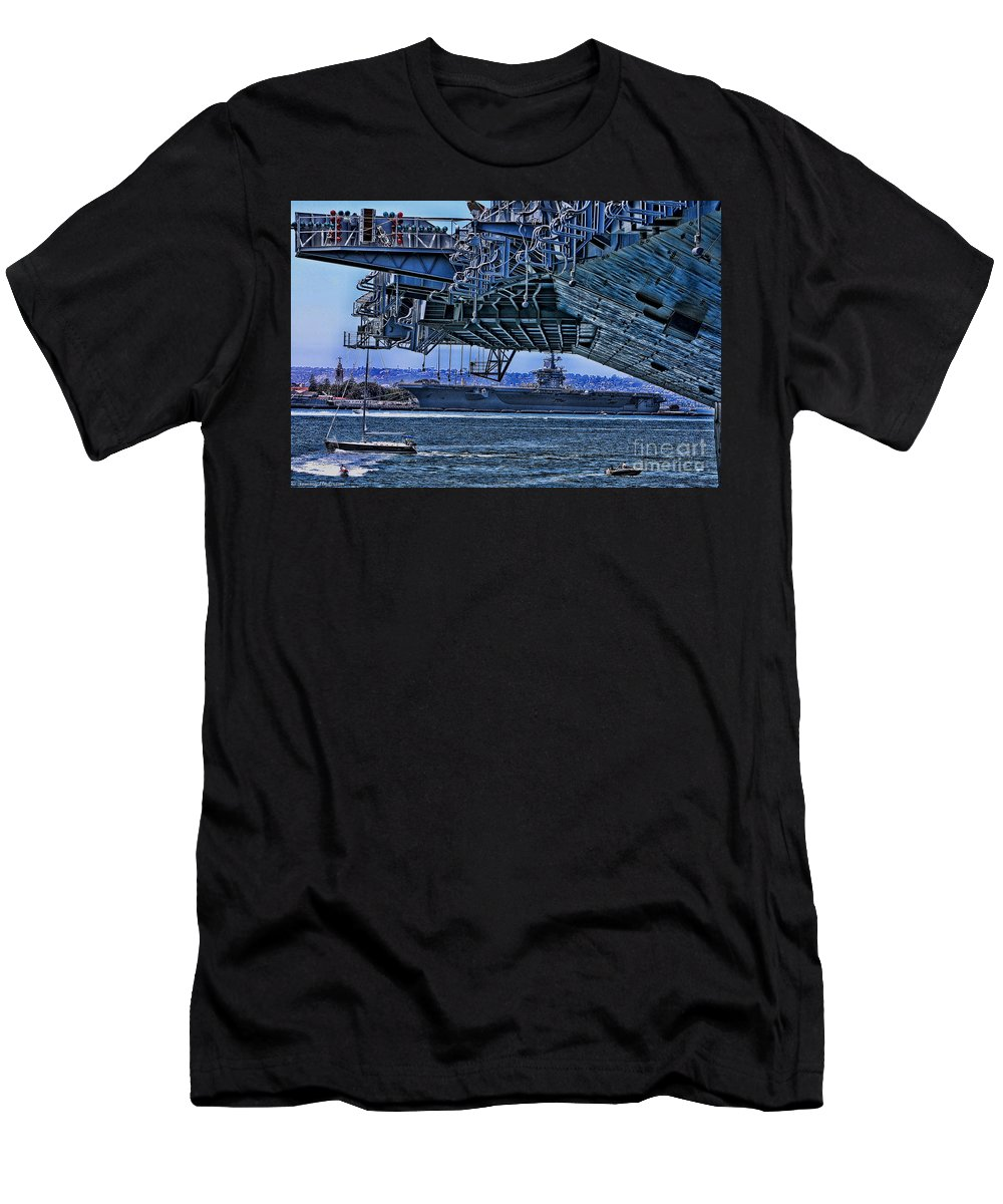 Uss Midway Men's T-Shirt (Athletic Fit) featuring the photograph The Carriers by Tommy Anderson