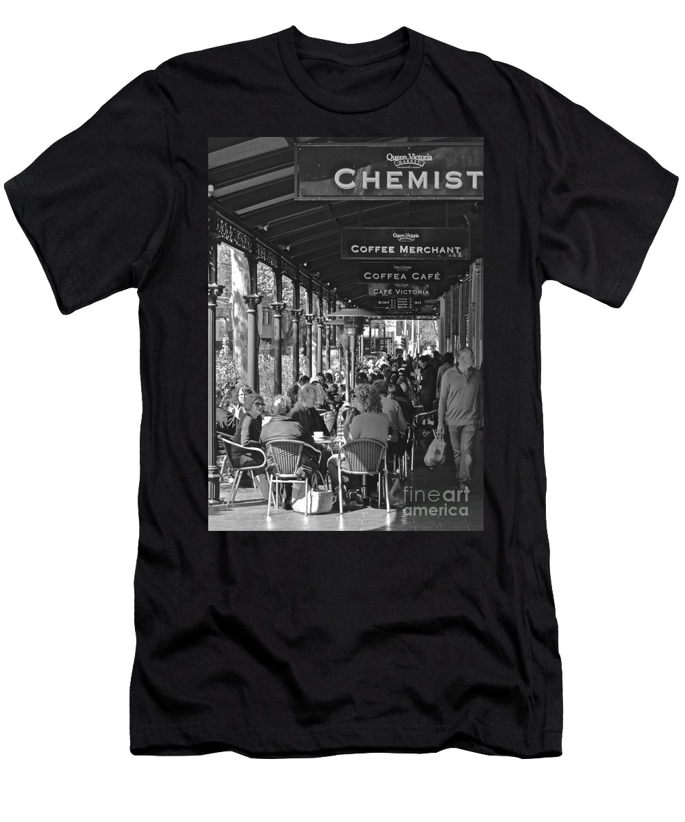 Coffee Men's T-Shirt (Athletic Fit) featuring the photograph The Chat by Jeff Masters