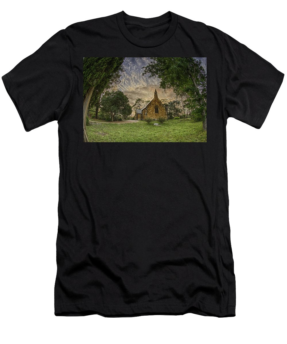 Church Men's T-Shirt (Athletic Fit) featuring the photograph The Church by Chris Cousins