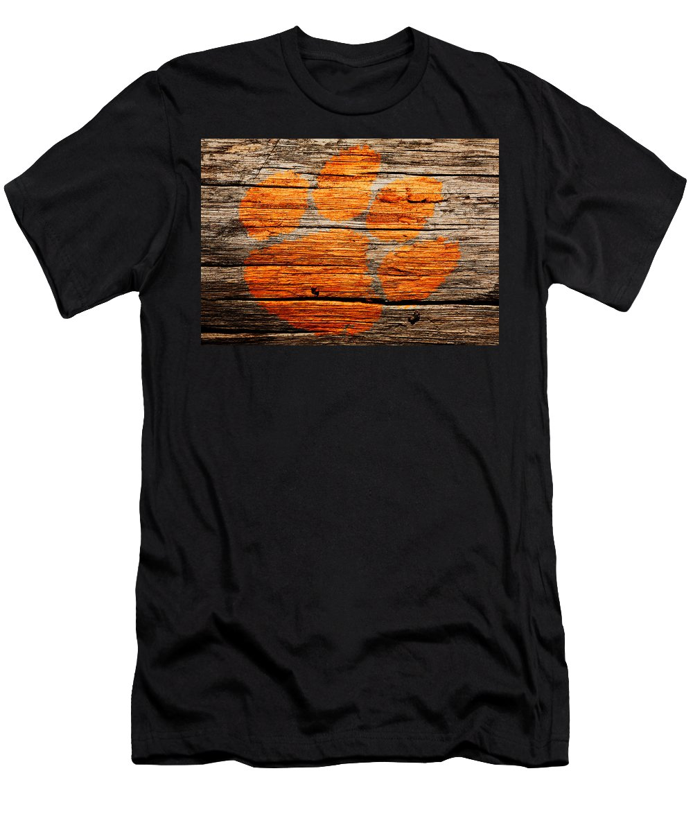 Clemson Tigers Football T-Shirt featuring the mixed media The Clemson Tigers 1a by Brian Reaves