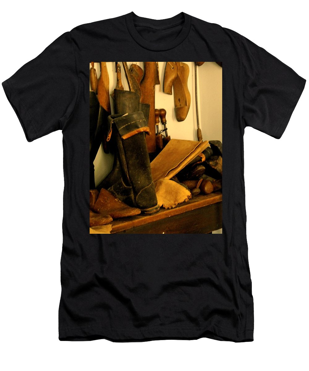 Shoess Men's T-Shirt (Athletic Fit) featuring the photograph The Cobbler by Ian MacDonald