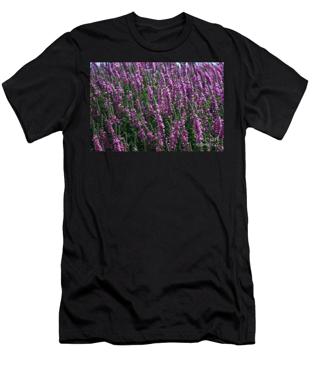 Abstract Men's T-Shirt (Athletic Fit) featuring the photograph The Color Purple by Robert Pearson