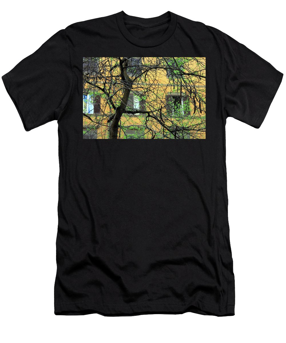 Rome Men's T-Shirt (Athletic Fit) featuring the photograph The Connection by Munir Alawi