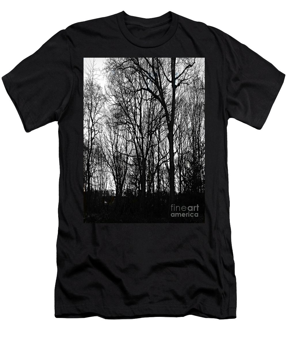 The Copse Men's T-Shirt (Athletic Fit) featuring the photograph The Copse by Joan-Violet Stretch