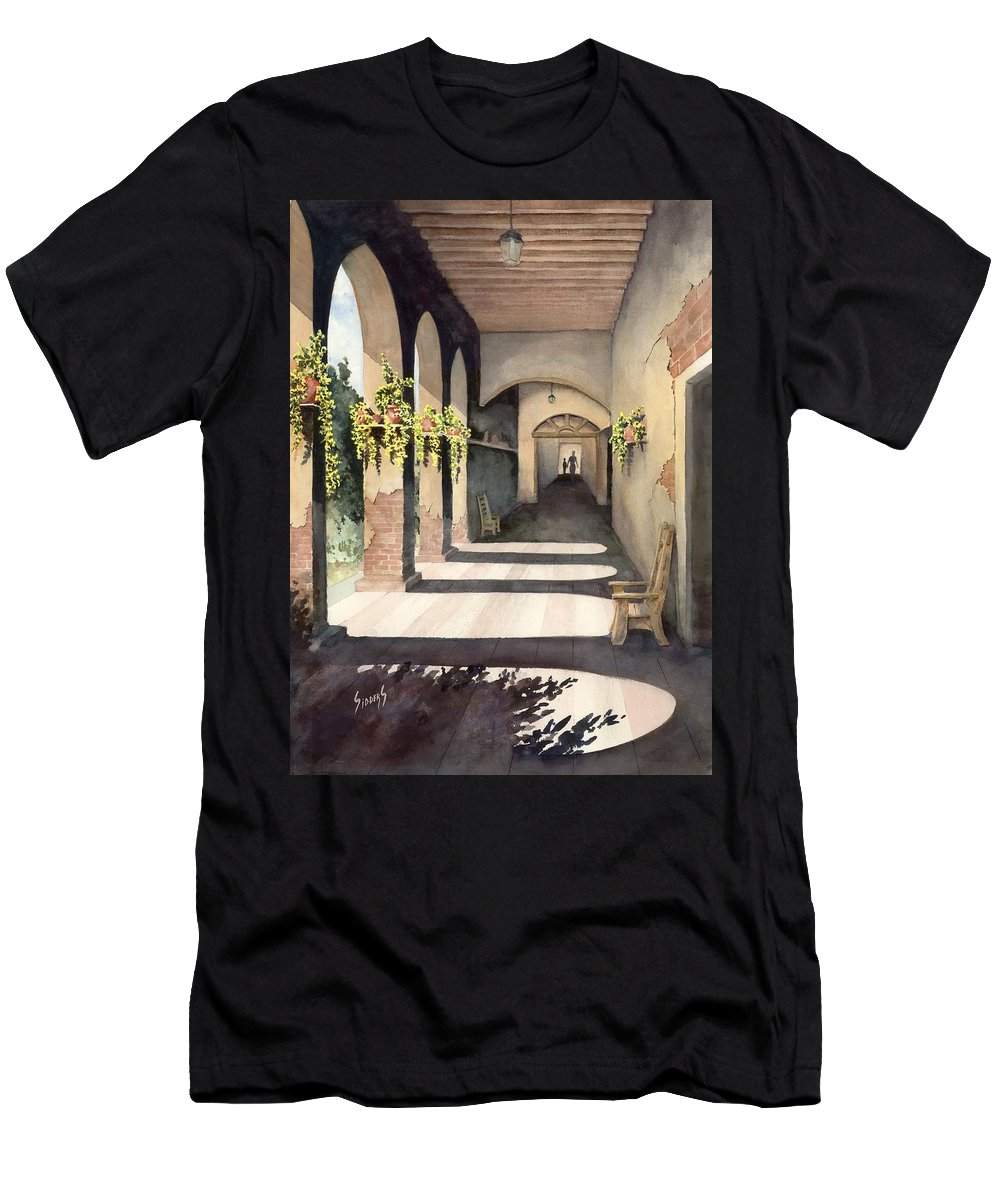 Plants Men's T-Shirt (Athletic Fit) featuring the painting The Corridor 2 by Sam Sidders