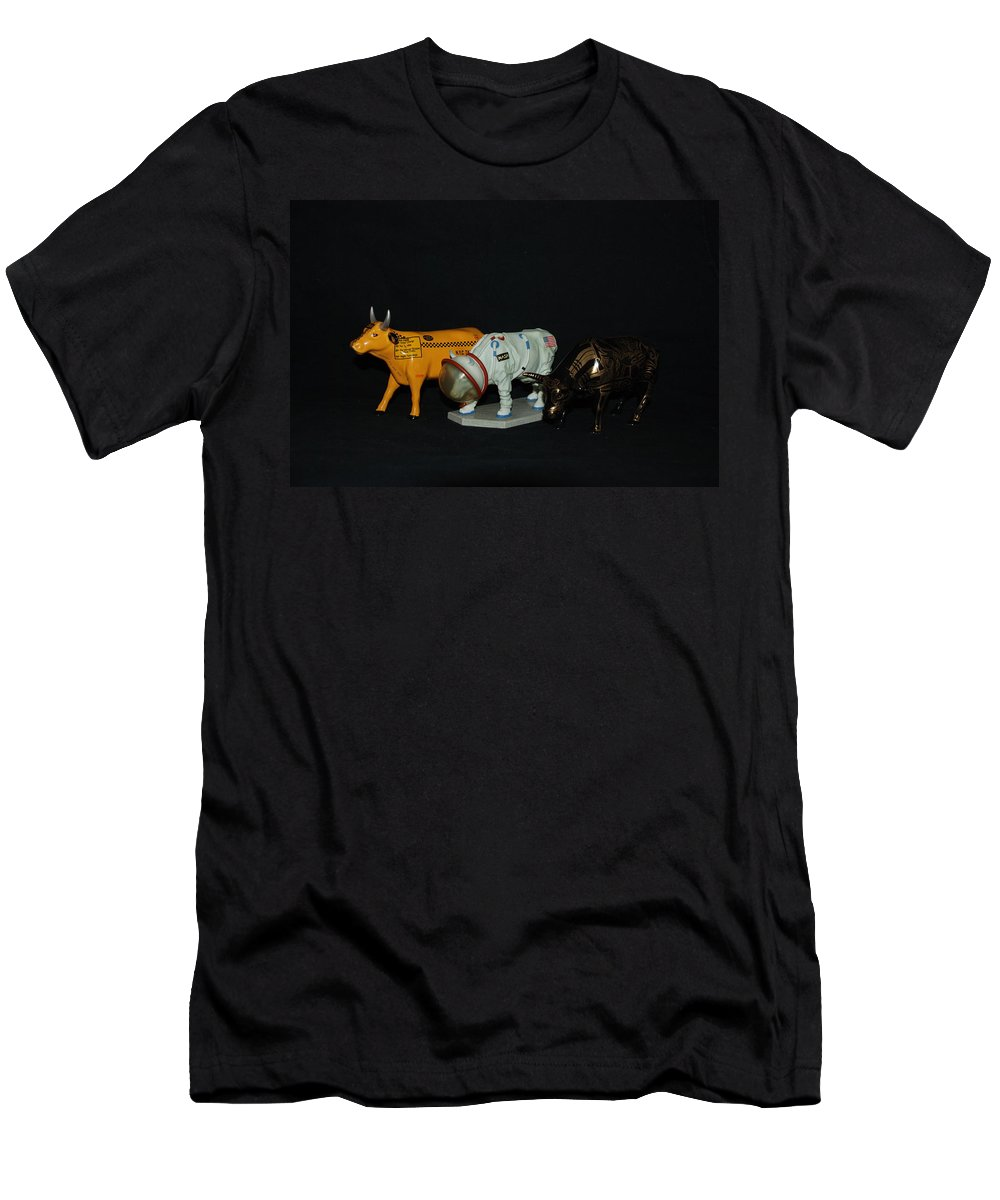 Cows Men's T-Shirt (Athletic Fit) featuring the photograph The Cows by Rob Hans