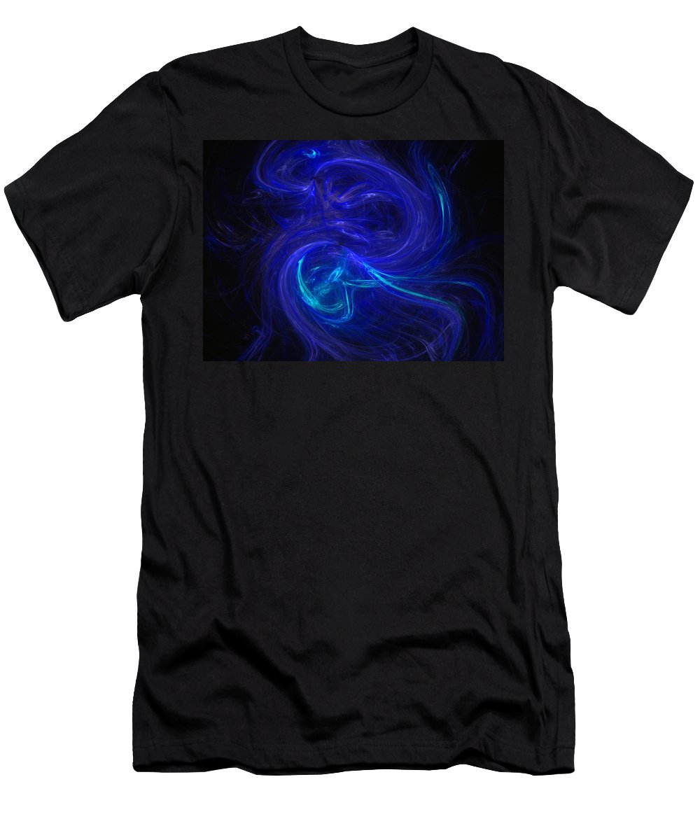 Abstract Digital Photo Men's T-Shirt (Athletic Fit) featuring the digital art The Dance 2 by David Lane