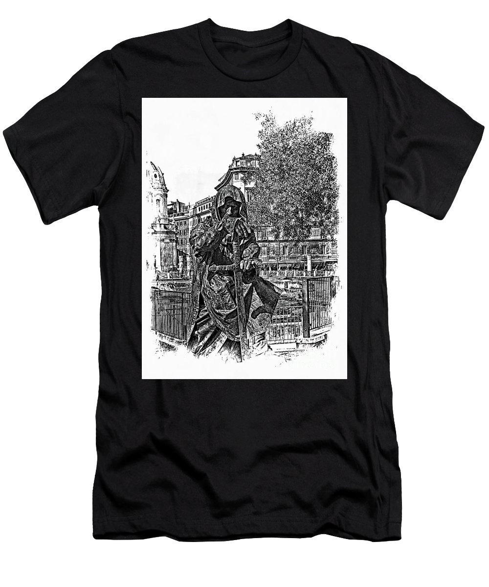 Dark Men's T-Shirt (Athletic Fit) featuring the photograph The Dark Knight II by Al Bourassa