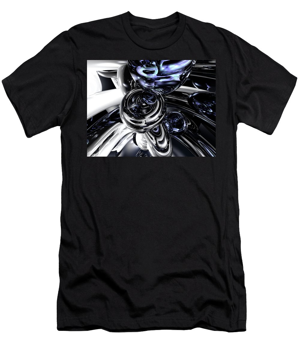 3d Men's T-Shirt (Athletic Fit) featuring the digital art The Darkside Abstract by Alexander Butler