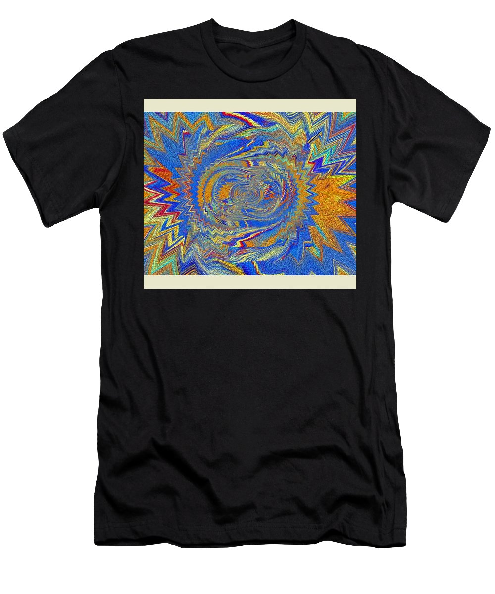 Art Digital Pictures Men's T-Shirt (Athletic Fit) featuring the digital art The Dawn Of Hope by Halina Nechyporuk