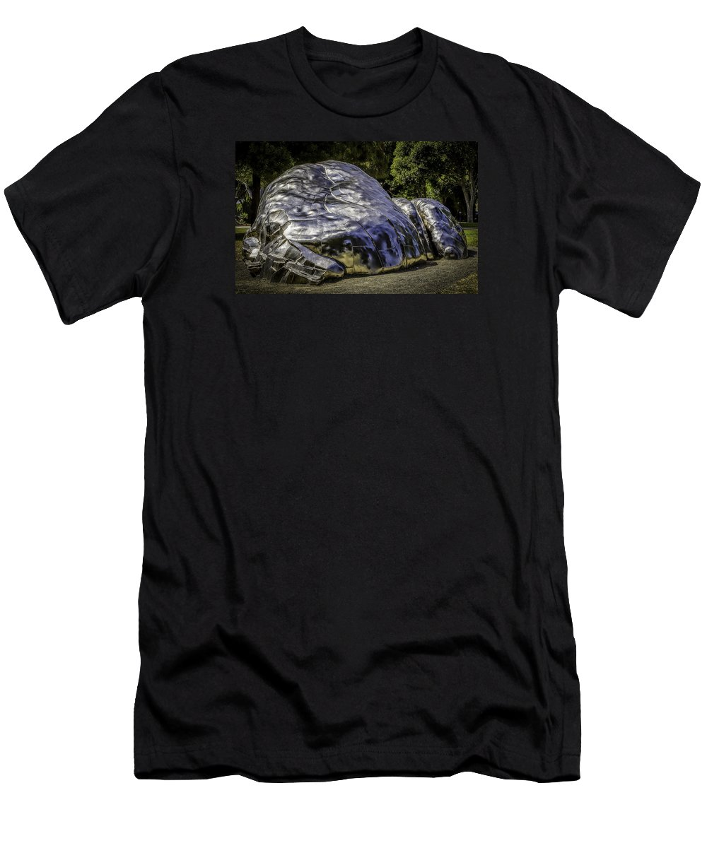 Beverly Men's T-Shirt (Athletic Fit) featuring the photograph The Death Of Chrome by Vincent Asbjornsen