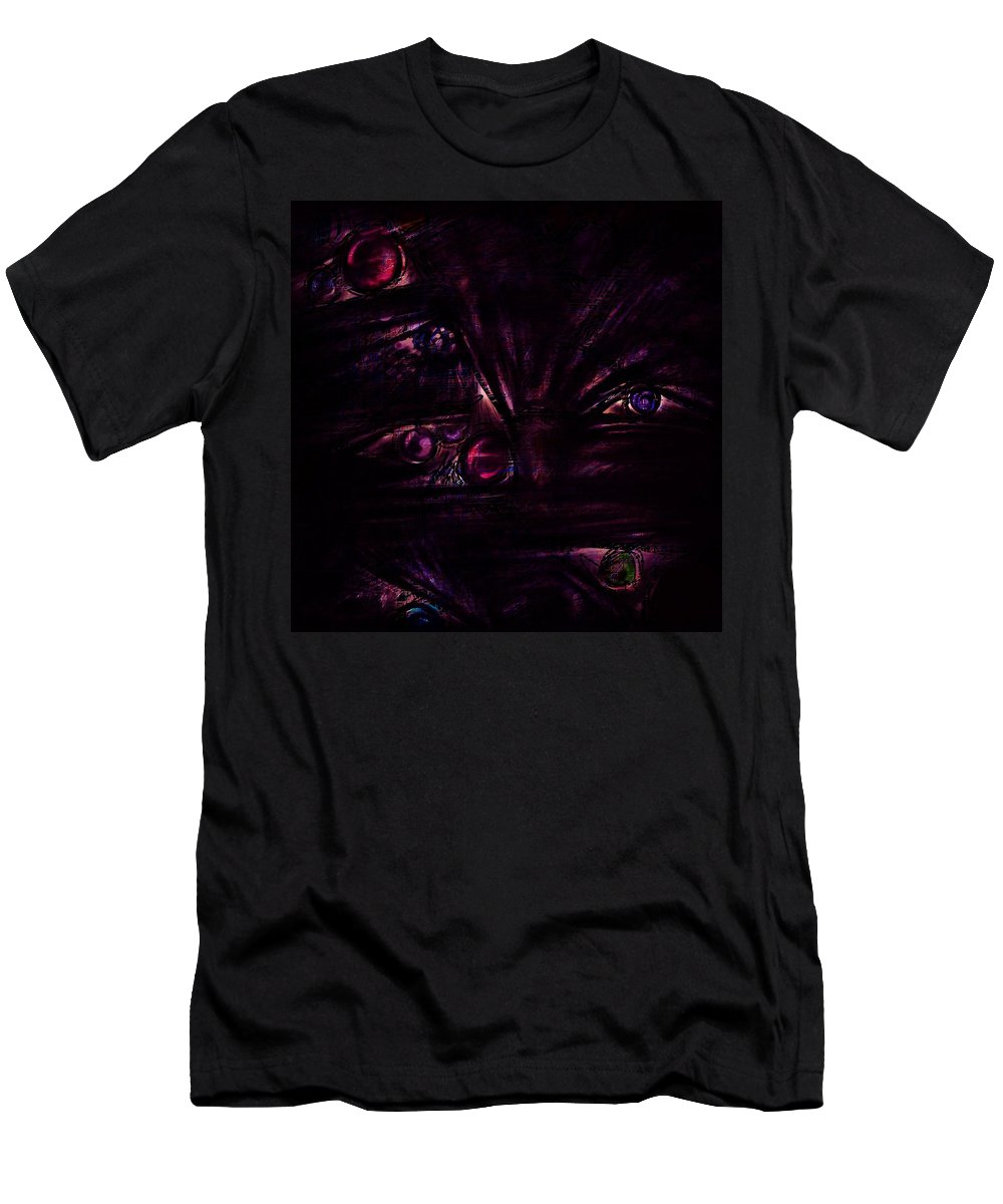 Abstract Men's T-Shirt (Athletic Fit) featuring the digital art The Deceiver by Rachel Christine Nowicki
