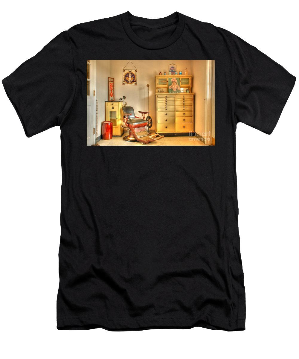 Dentist Office Men's T-Shirt (Athletic Fit) featuring the photograph The Dentist Office by Tony Bazidlo