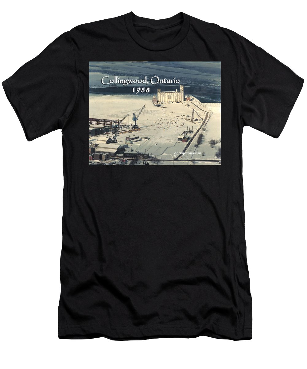 Collingwood Men's T-Shirt (Athletic Fit) featuring the photograph The Dock - Revisited by D'Arcy Evans