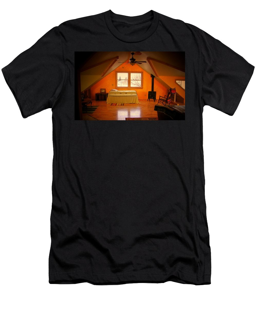 Angles Men's T-Shirt (Athletic Fit) featuring the photograph The Dog's Bed by Lenore Senior