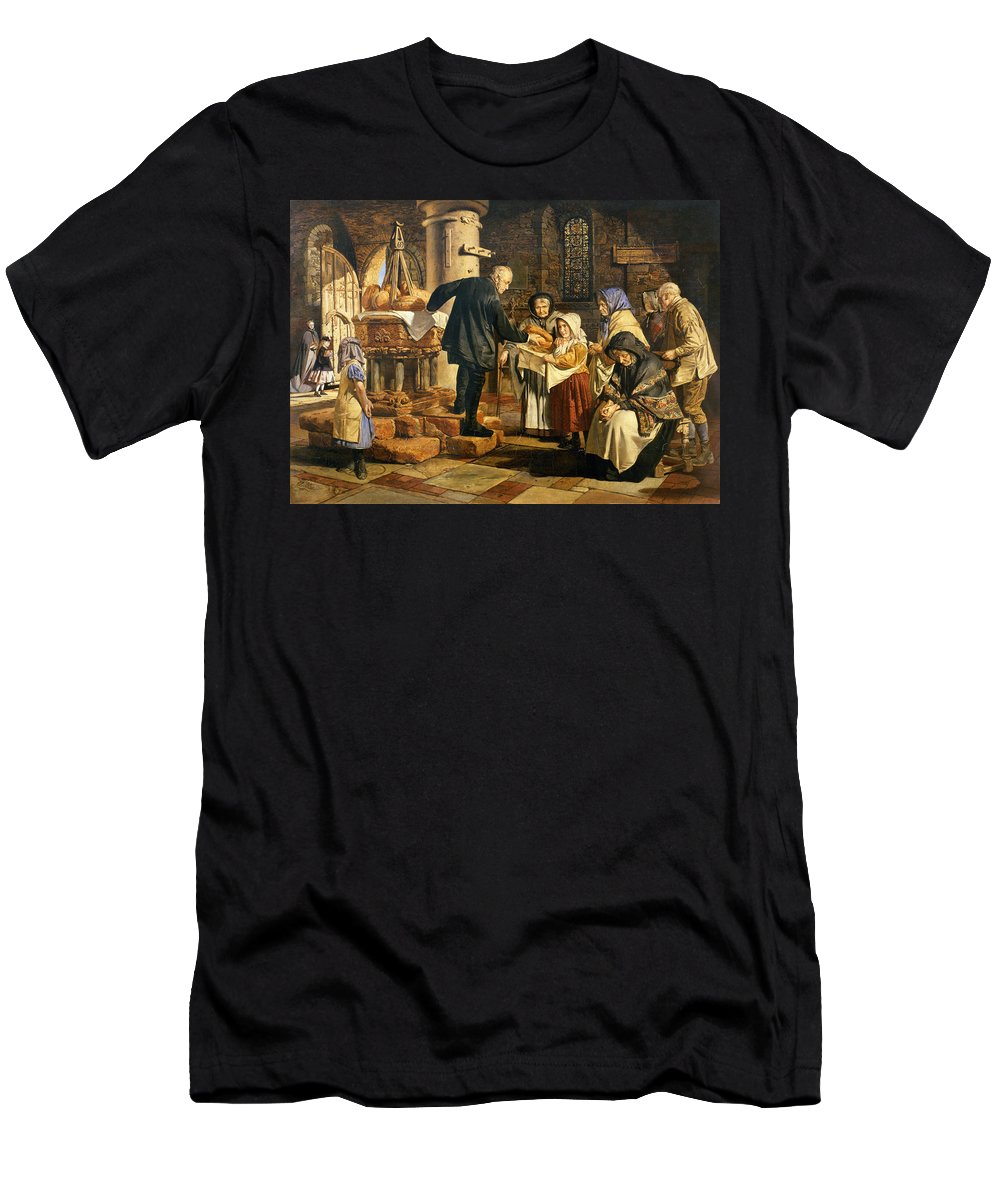 The Men's T-Shirt (Athletic Fit) featuring the painting The Dole by Jmes Lobley