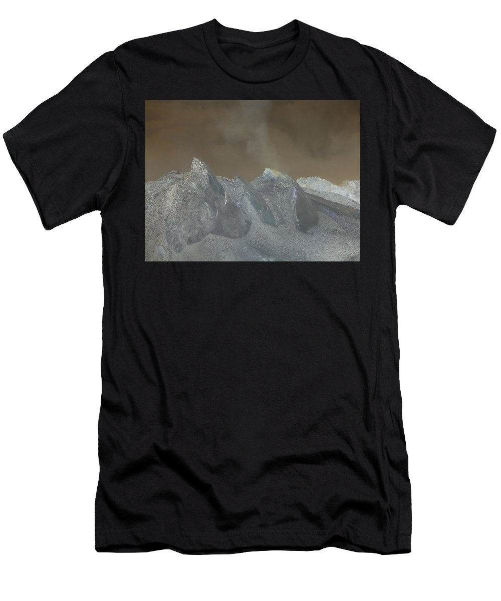 Dome Men's T-Shirt (Athletic Fit) featuring the photograph The Dome Of Mt St Helens by Jeff Swan
