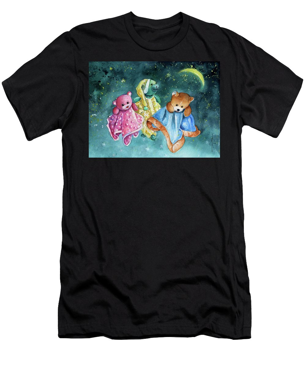 Truffle Mcfurry Men's T-Shirt (Athletic Fit) featuring the painting The Doo Doo Bears by Miki De Goodaboom