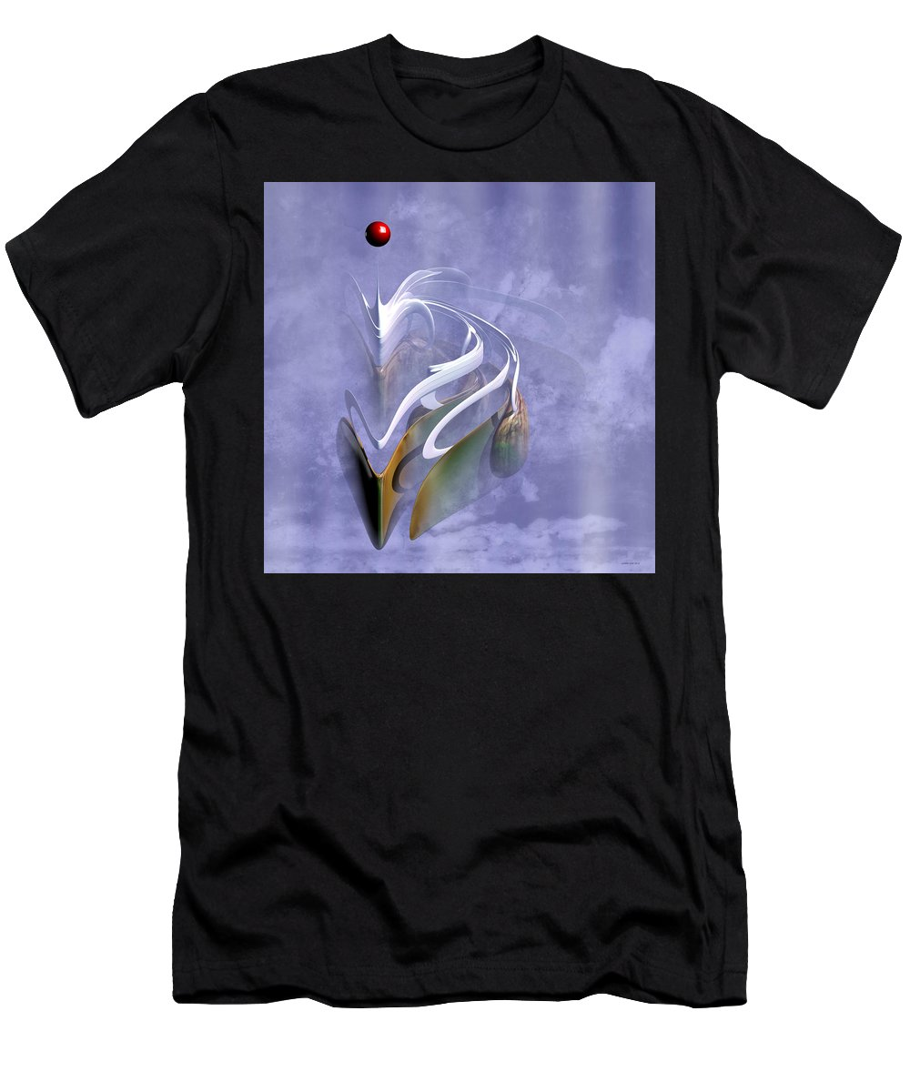 Fractal Men's T-Shirt (Athletic Fit) featuring the digital art The Dragon by Lorant Zsolt
