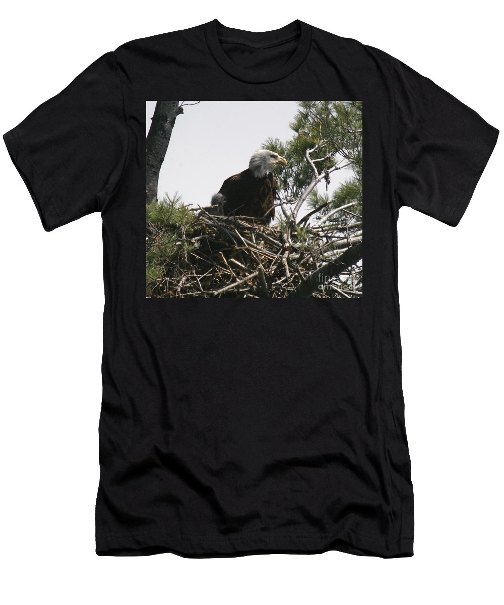 Eagle Men's T-Shirt (Athletic Fit) featuring the photograph The Eagle Eye by Robert Pearson