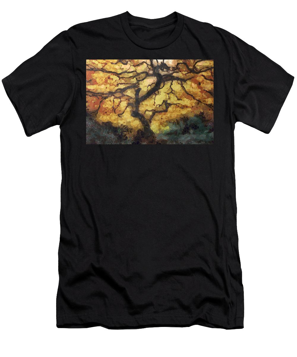 Digital Art Style Men's T-Shirt (Athletic Fit) featuring the digital art The Empty Tree by Mario Carini