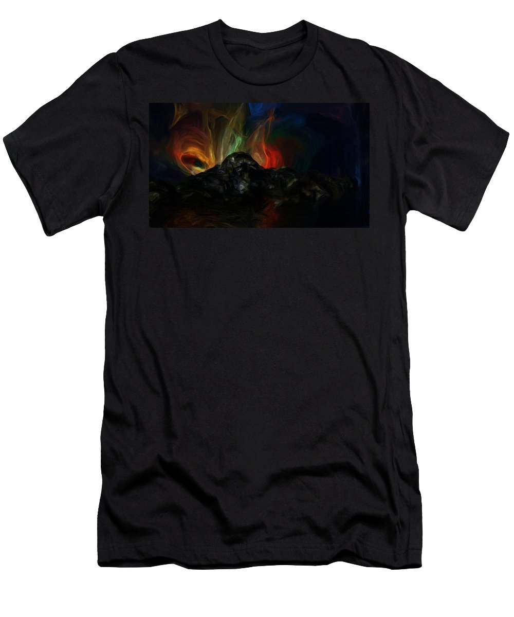 Fine Art Men's T-Shirt (Athletic Fit) featuring the digital art The End by David Lane