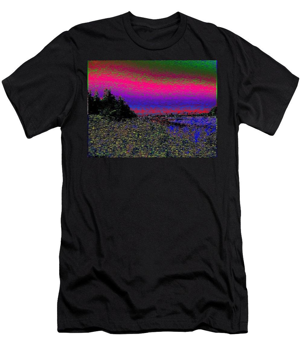 Estuary Men's T-Shirt (Athletic Fit) featuring the digital art The Estuary by Tim Allen