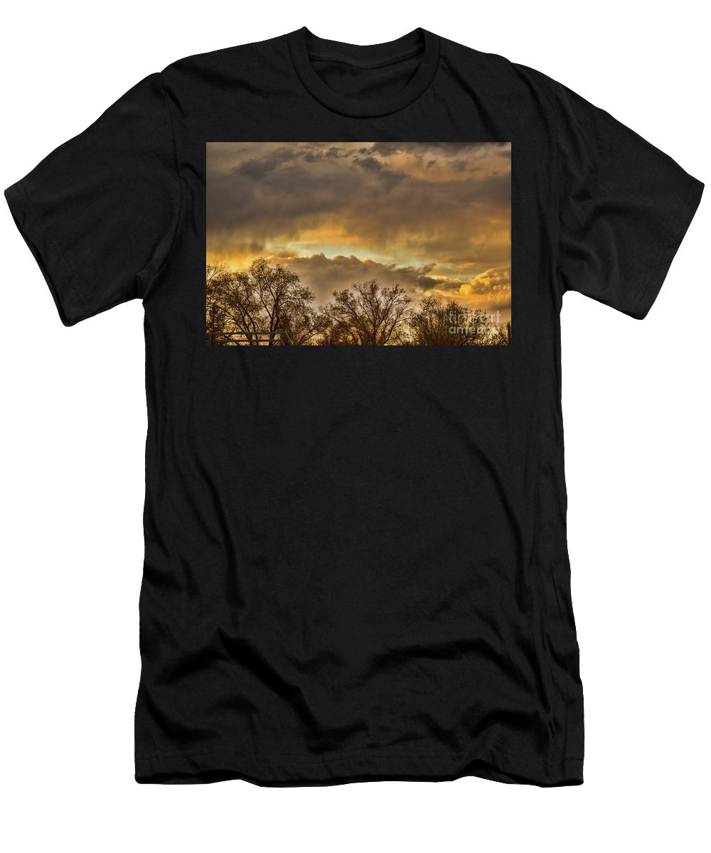 Evening Men's T-Shirt (Athletic Fit) featuring the photograph The Evening Sky by Steven Parker